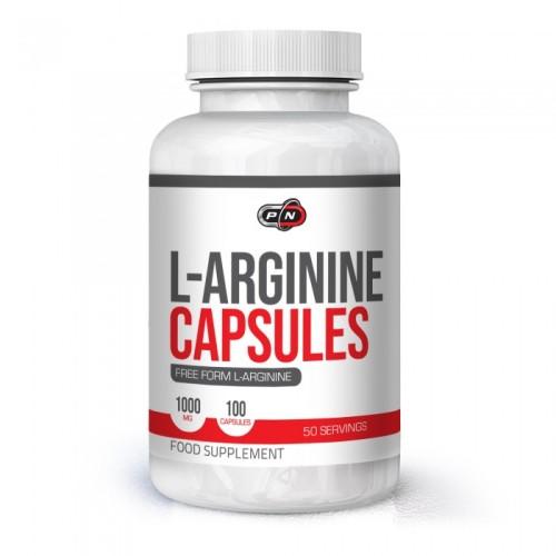 Pure Nutrition L-Arginine Capsules 1000 mg - 100 капсули