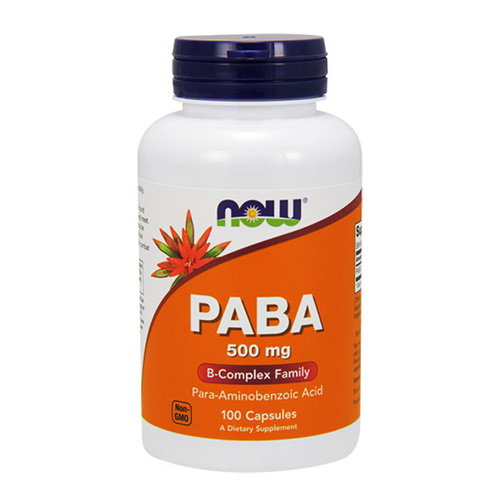 Now Foods PABA 500 mg