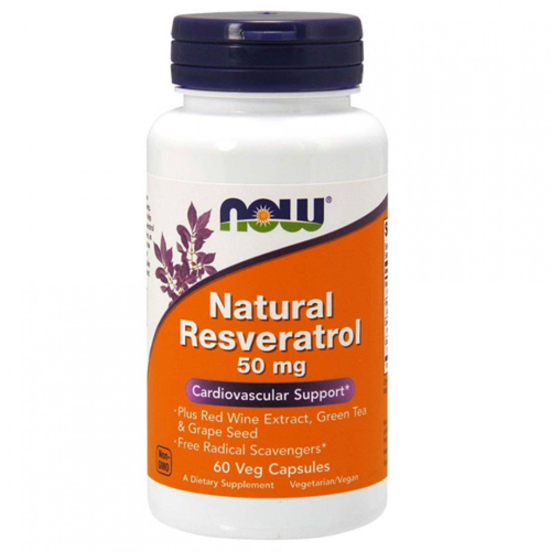 Now Foods Natural Resveratrol 50 mg цена