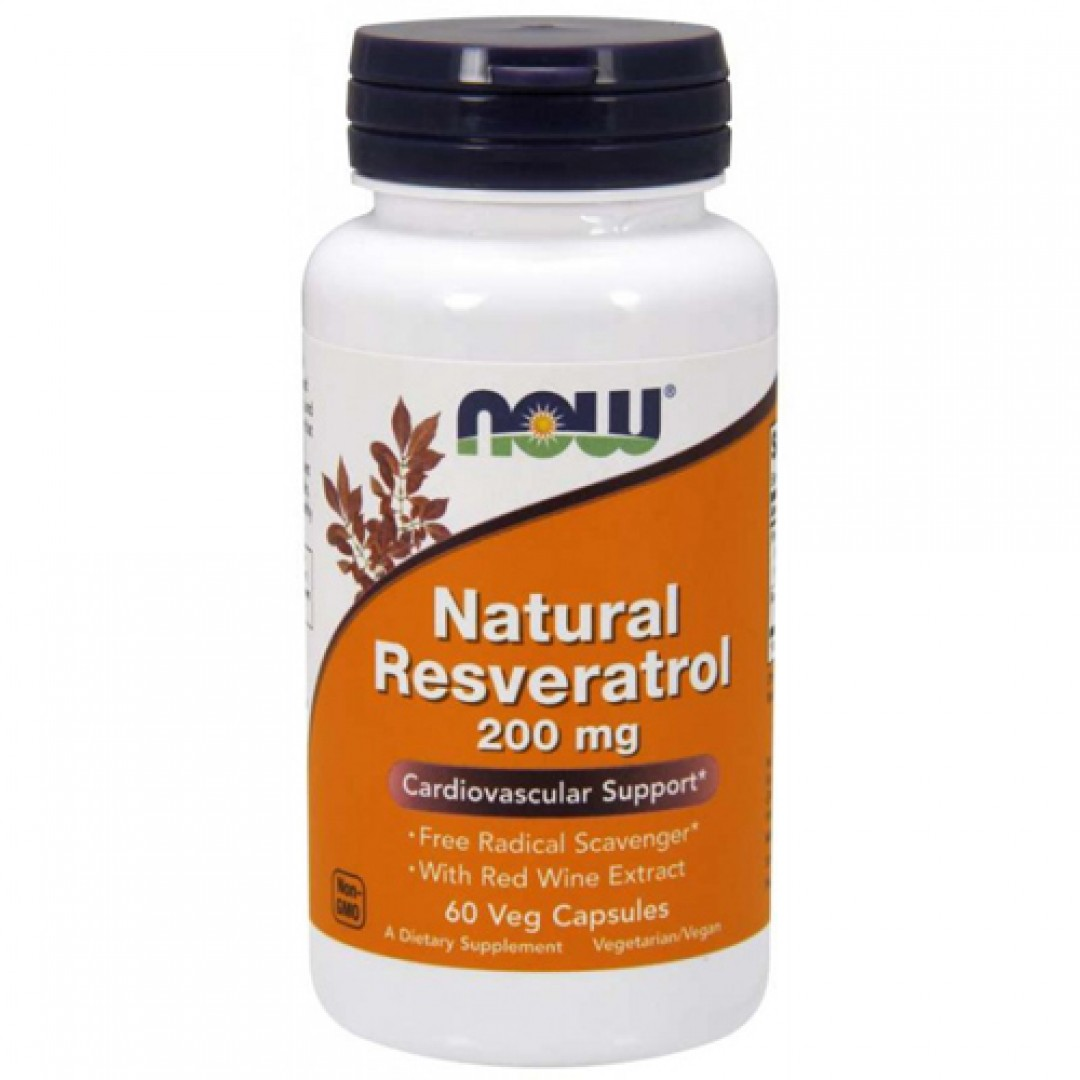 Now Foods Natural Resveratrol 200 mg цена