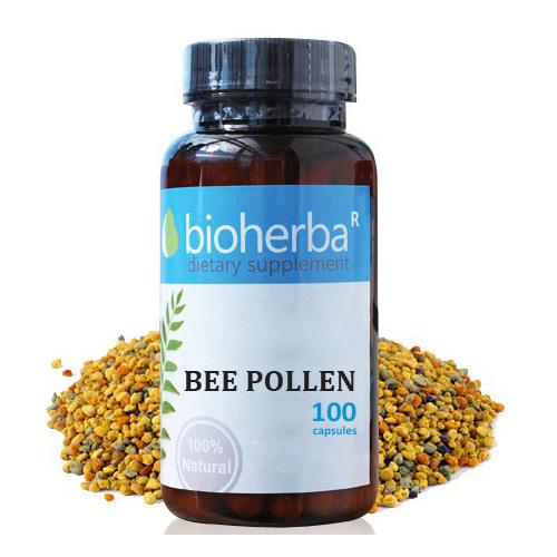 Пчелен прашец 400 мг 100 капс Биохерба