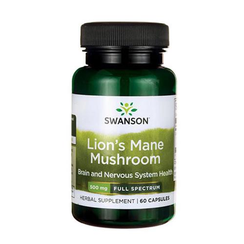 Swanson Lion's Mane Mushroom 500 mg 60 Caps