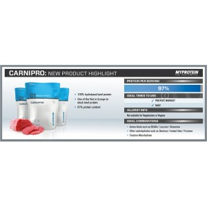 MyProtein CarniPro 97 Hydrolysed Beef Protein