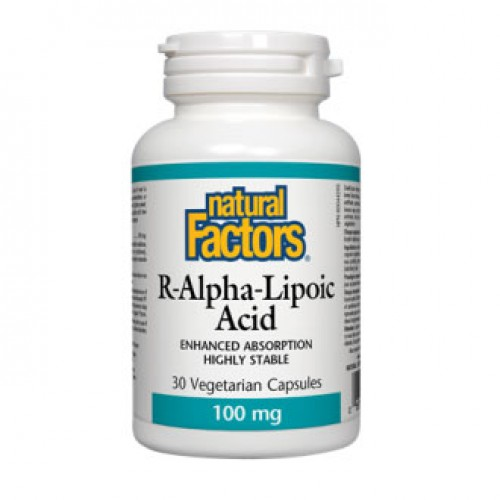 Natural Factors R-Alpha-Lipoic Acid 100 mg