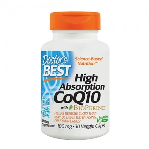 Doctor's Best High Absorption CoQ10 with BioPerine® 100 mg 30 Veggie Caps