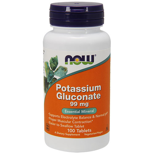 Now Foods Potassium Gluconate (Калий) 100 tabs