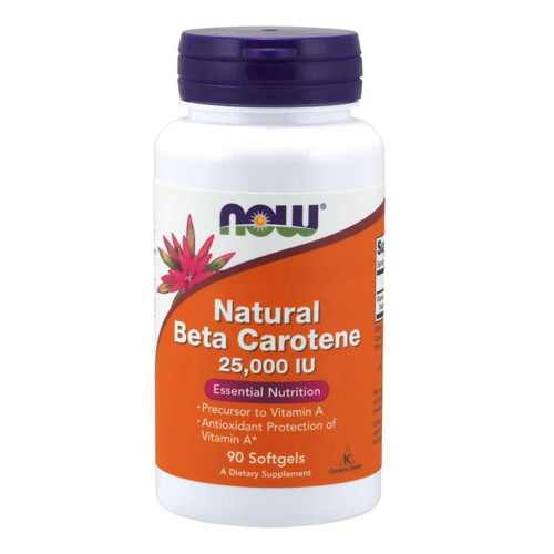 Now Foods Natural Beta Carotene 25000 IU