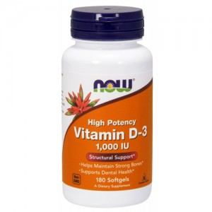 Now Foods Vitamin D 1000 IU 180 Softgels цена