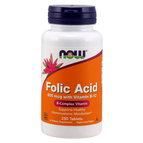 Now Foods Vitamin B-9 (Folic Acid) + B-12