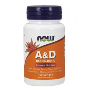 Now Foods Vitamin A & D 10 000 / 400 IU