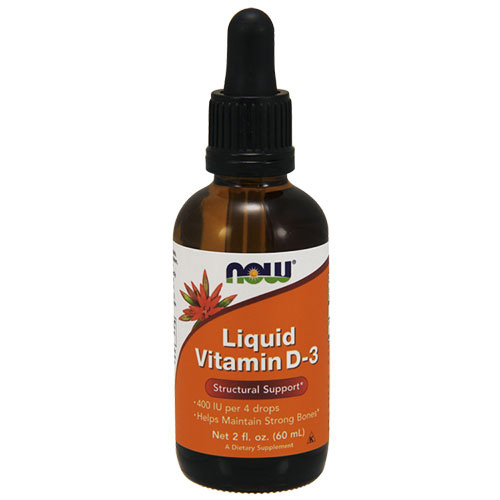Now Foods Vitamin D-3 Liquid 60 ml