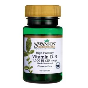 Swanson Vitamin D-3 1000 IU 60 Caps цена