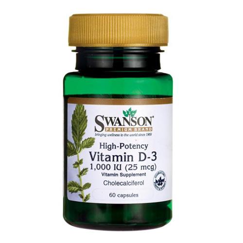 Swanson Vitamin D-3 1000 IU 60 Caps