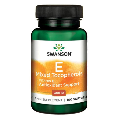 Swanson Vitamin E Mixed Tocopherols 400 IU 100 Softgels