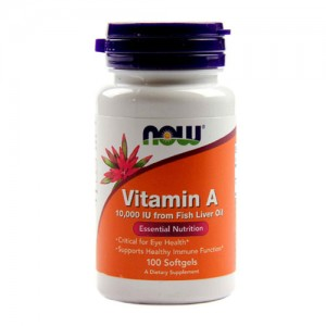 Now Foods Vitamin A 10,000 IU 100 Softgels