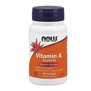 Now Foods Vitamin A 25,000 IU 100 Softgels