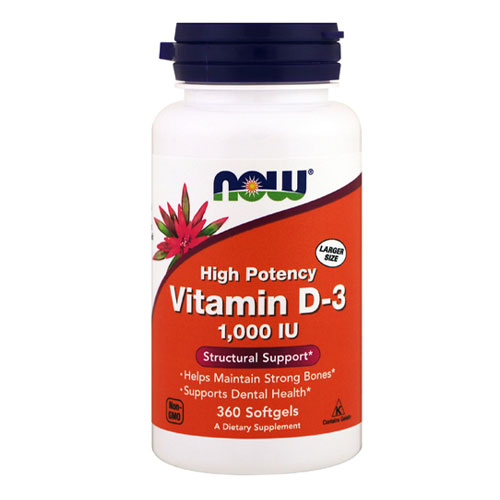 Now Foods Vitamin D 1000 IU 360 Softgels