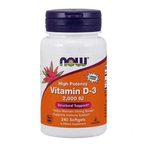 Now Foods Vitamin D 2000 IU 240 Softgels