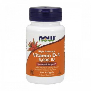 Now Foods Vitamin D 5000 IU120 Softgels