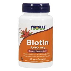 Now Foods Biotin 5000 mcg