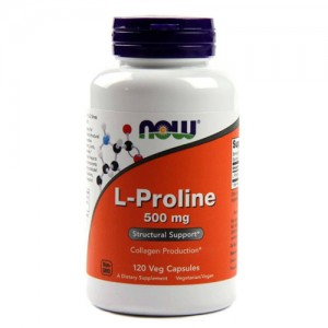 Now Foods L-Proline 500 mg 120 Veg Caps