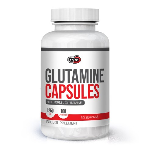 Pure Nutrition Glutamine Capsules 1250 mg - 100 капсули