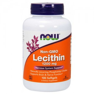 Now Foods Non-GMO Lecithin 1200 mg