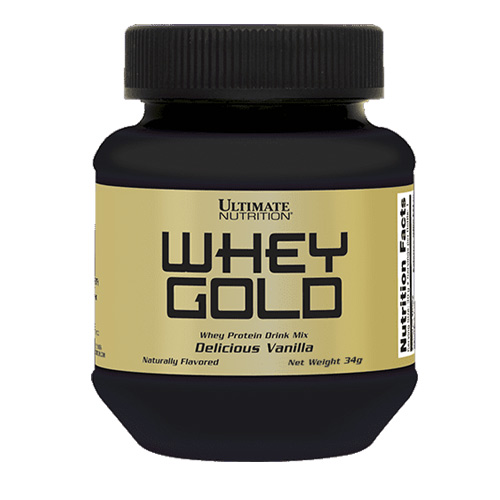 Ultimate Nutrition Whey Gold 34g Single-serving Bottle